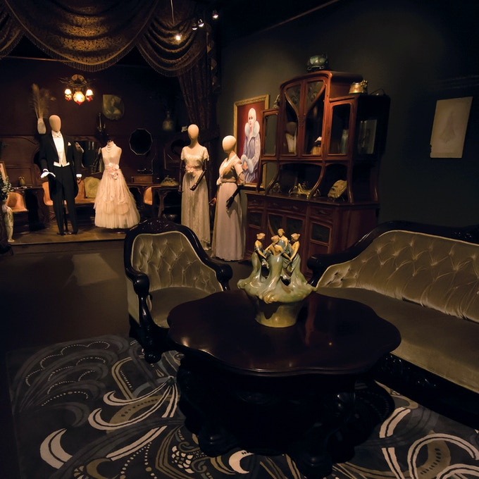 Costumes for The Great Gatsby on display at Century Guild