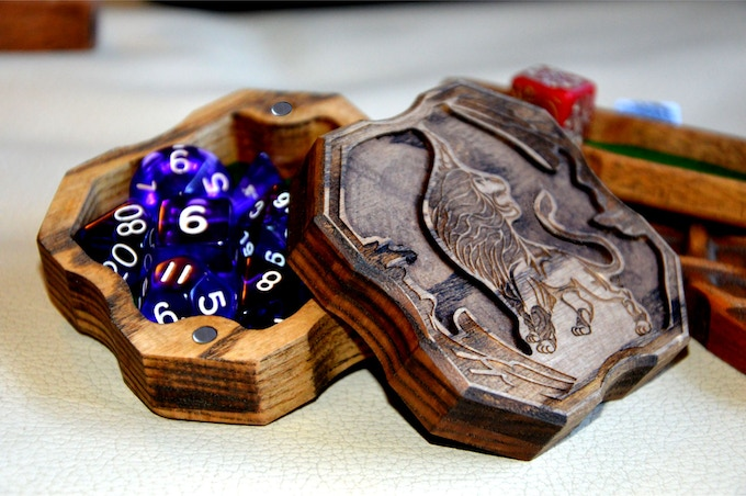 the box contains 7 RPG Dice, so you can see how unusual can look any dice with my box