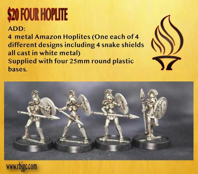 4 AMAZON HOPLITES ADD ON