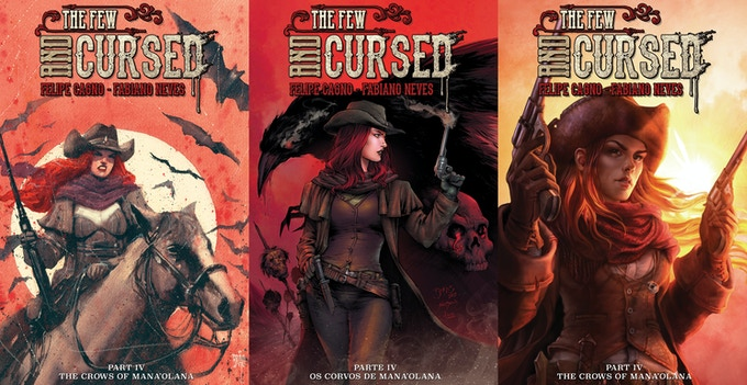 Limited BRÃO variant cover on the left, regular cover in the middle & Incentive NATALY UILDRIM variant cover on the right.