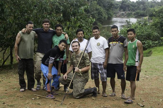 Anaconda expedition crew, Matsés village in the Peruvian Amazon