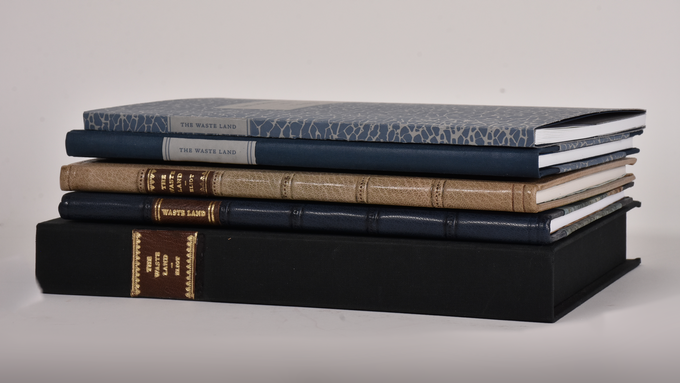 We are offering THE WASTE LAND in four bindings. All half and full leather copies are presented in a clamshell box.