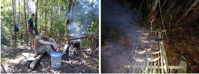 Camp life, Amazon rainforest, August 2015