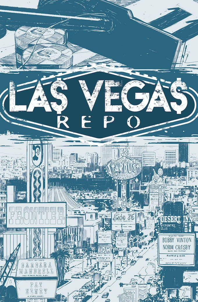 The Cover of Las Vegas Repo #1, Art by Miguel Ruano