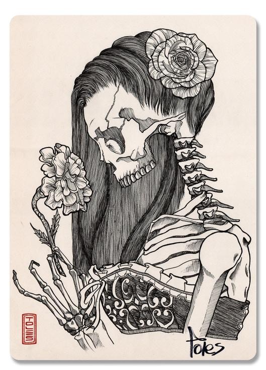 Muertas extra sketch card