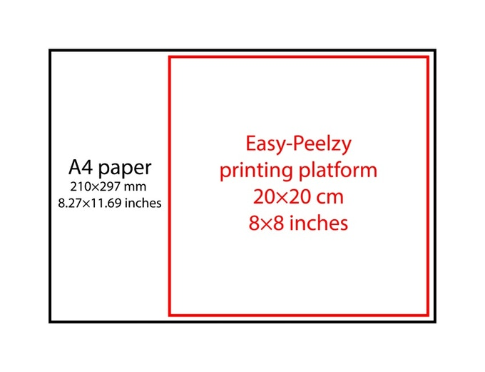 Easy-Peelzy platform set: 8x8 inches or 20x20 cm
