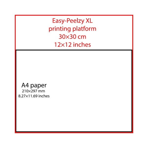 Easy-Peelzy XL platform set: 12x12 inches or 30x30 cm
