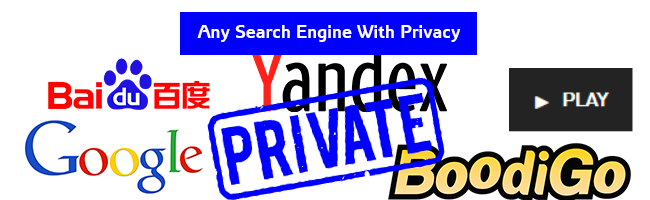 Make ANY Search Engine A Private Search Engine