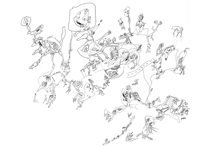doodle drawing 70x100cm D