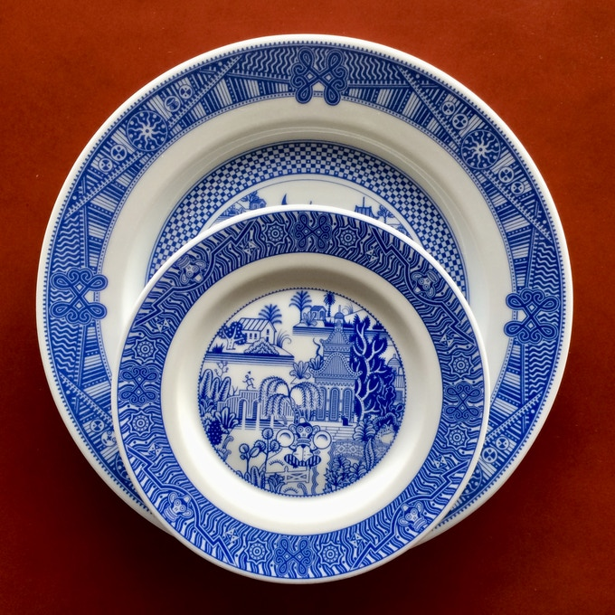 Small plate compared to a Calamityware dinner plate.