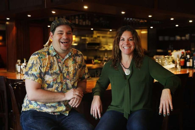 Jared & Absinthia posing for the San Francisco Chronicle Sunday Food Section
