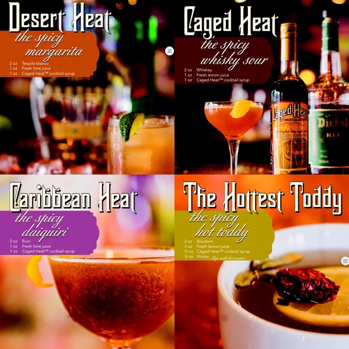Just a few ways you can use award winning Caged Heat™ cocktail syrup!