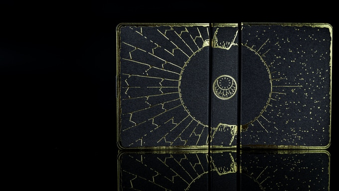 The tuck case is made from Curious Metallics Chocolate by Antalis from France and gold foil stamping for maximum luxury