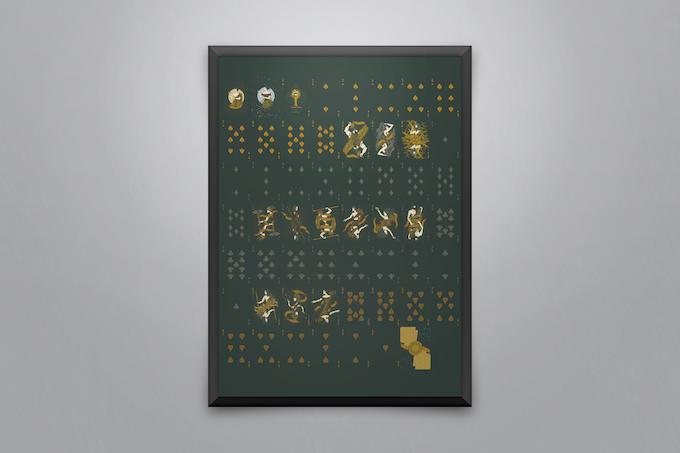 A sample of framed uncut sheets (Front design)