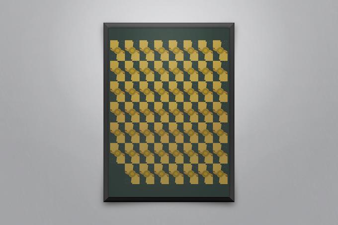 A sample of framed uncut sheets (Back design)