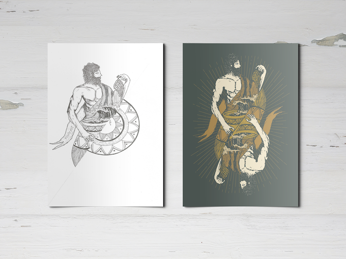 A4 size Poster (Left-Fine Art Edition and Right-Adobe Illustration Edition)