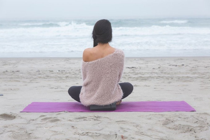 Balance Bottle also works as a portable meditation seat