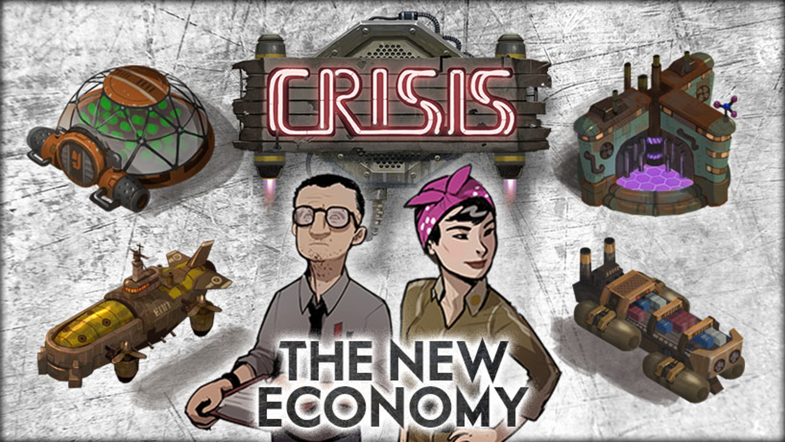 Build your empire in the dieselpunk world of Crisis! A campaign for the first expansion and a reprint of the deluxe edition.