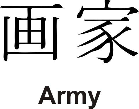 ARMY in KANJI