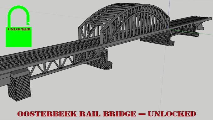 Oosterbeek (Arnhem) Rail Bridge - Unlocked