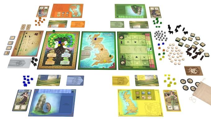 Example of 4 players' setup