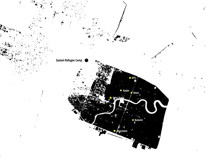 Mapping London's online radio stations to Zaatari Refugee Camp