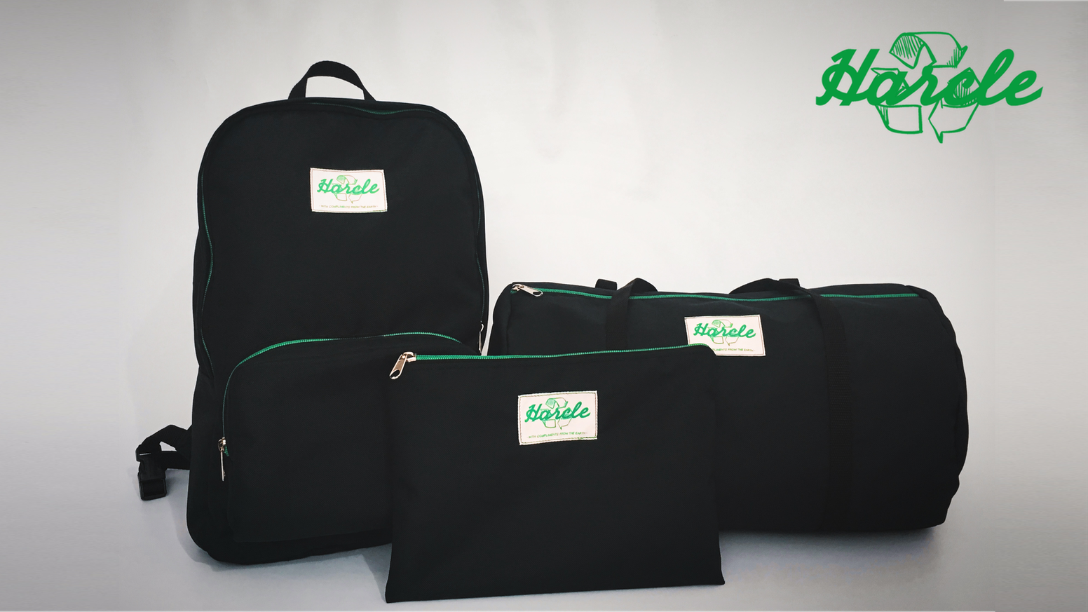 Clean designed & eco-friendly Backpack, Duffle Bag & Pouch.