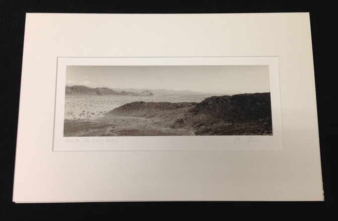 """Crater Ten Miles West of Amboy"" Matted & Signed Archival Pigment Print of photograph used on cover of SCENIC's Incident At Cima album"