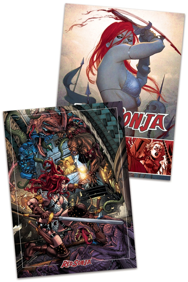 Increase your reward level to have one of the cards signed by Red Sonja writer, Luke Lieberman!