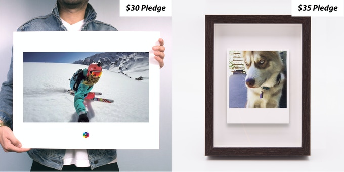Poster Print & Polaroid Float Frame
