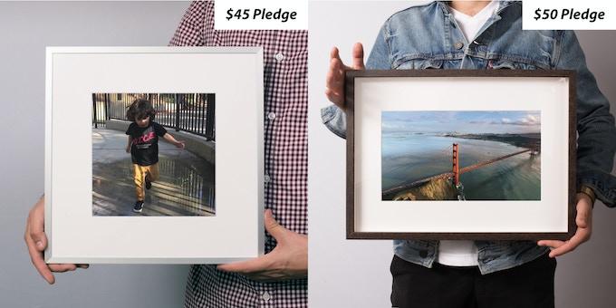Metal Frame & Wood Frame Prints