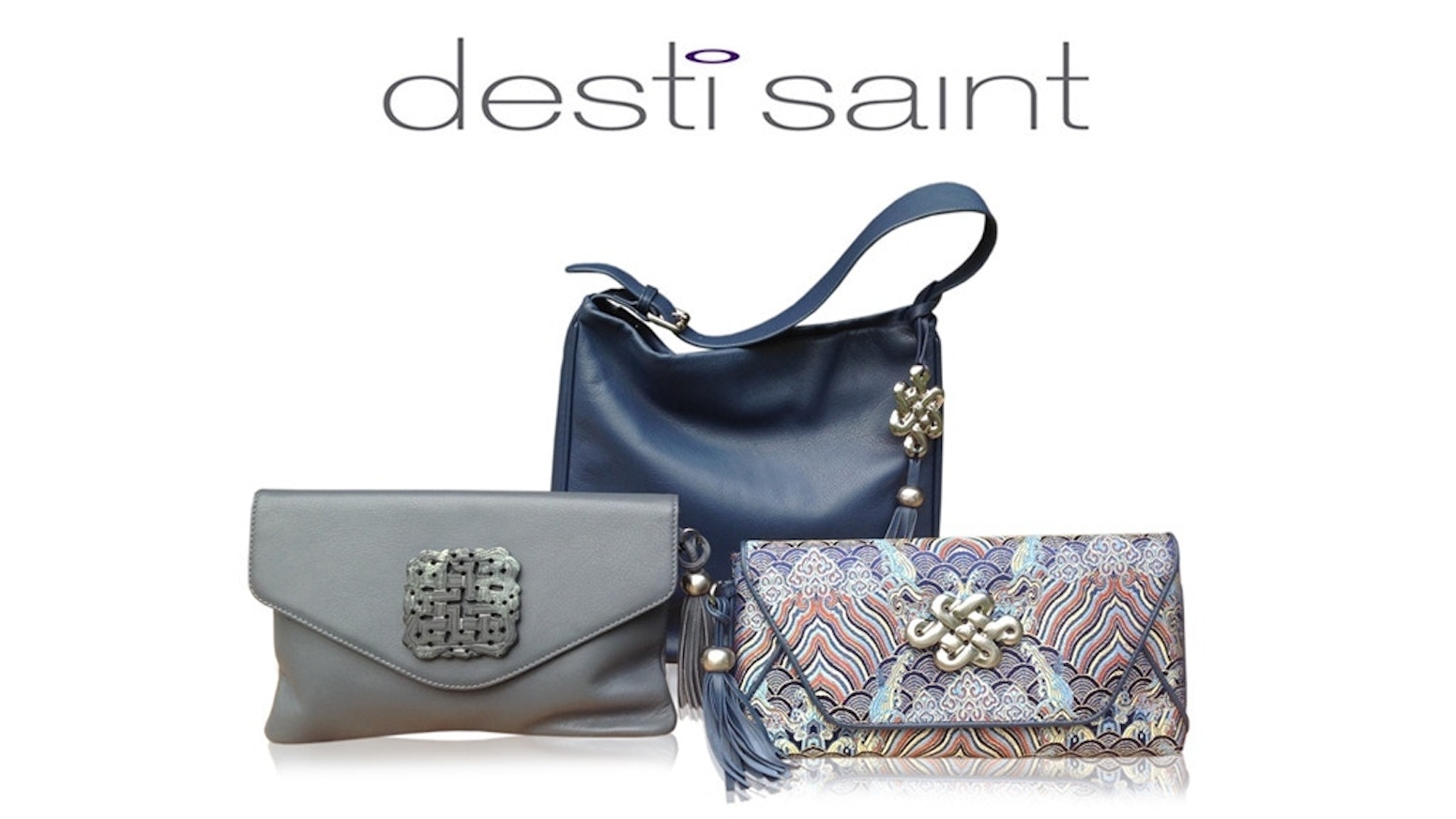 Beautifully Crafted Handbags With Unique Asian Detailing A Love Knot Symbolising Unbreakable Bonds Is Featured