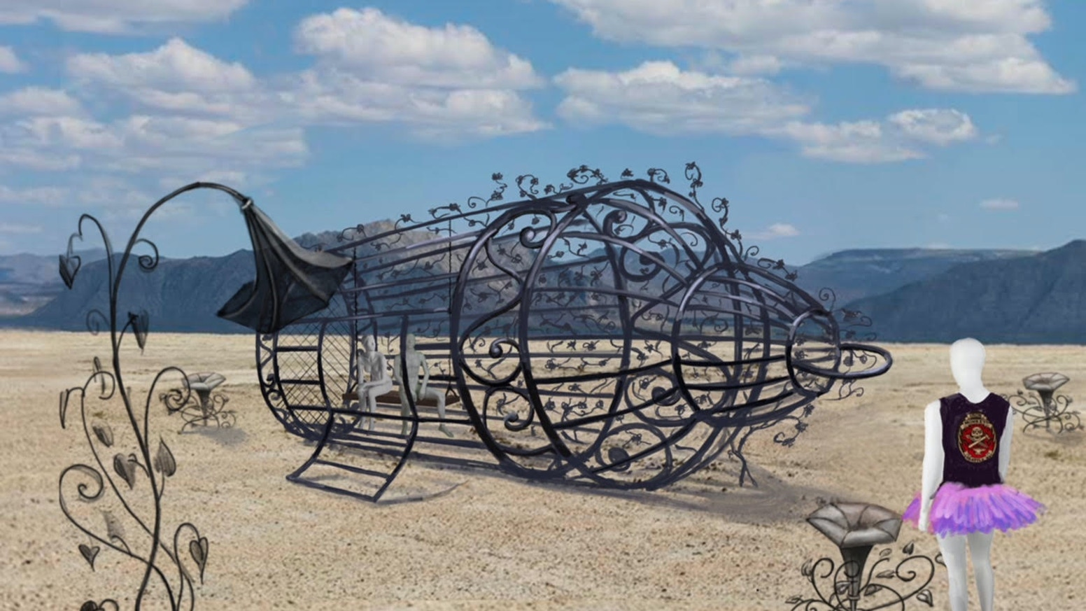 Over Grown A Sculpture For Burning Man 2018 By Iron