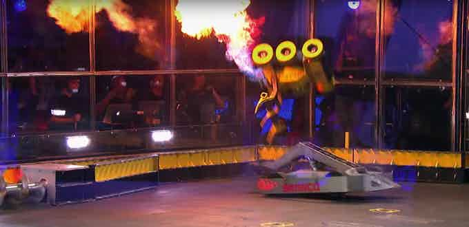 Bronco, the latest in a long line of our Battlebots, winning against Stinger