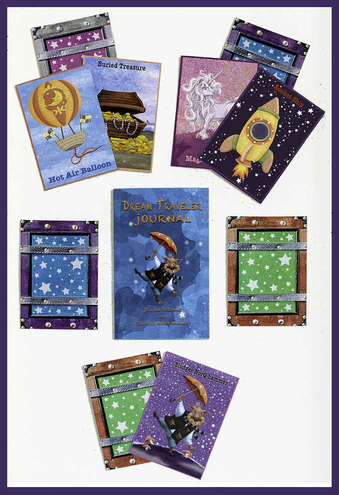 Dream Journal + Story Prompt Cards (fronts + Backs)