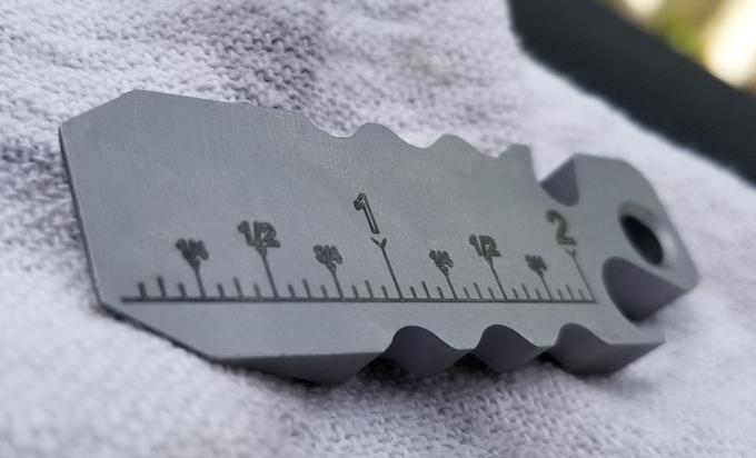 Fishstick ruler (inch variant)