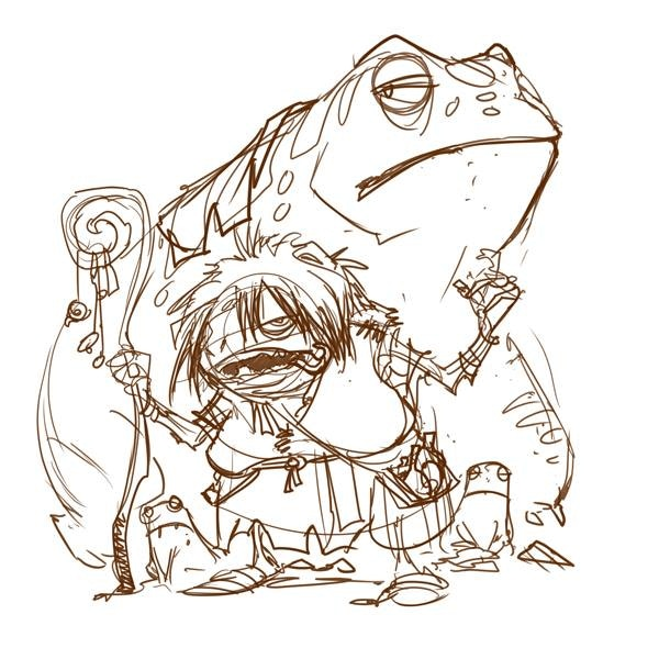 Sketch of Frog Witch