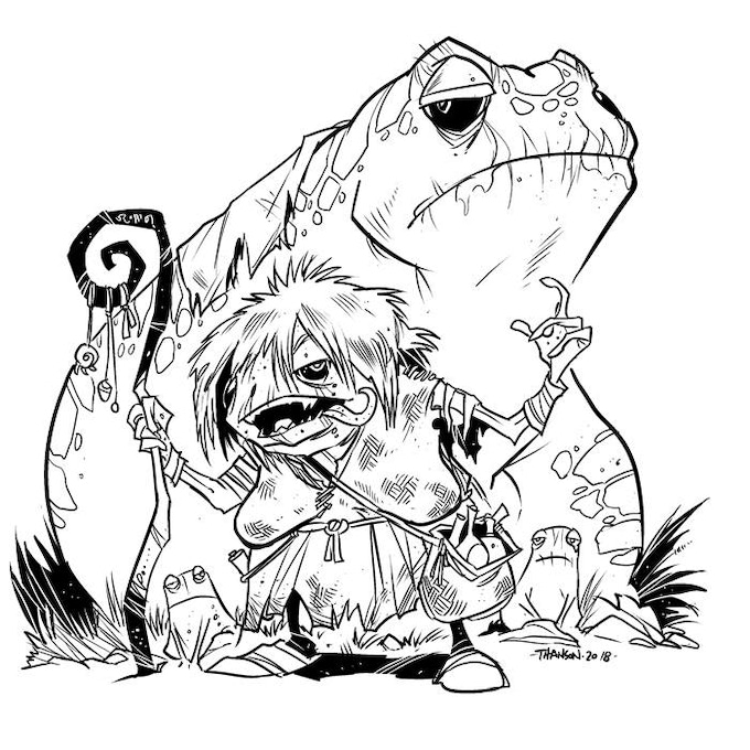 Inked Version of Frog Witch