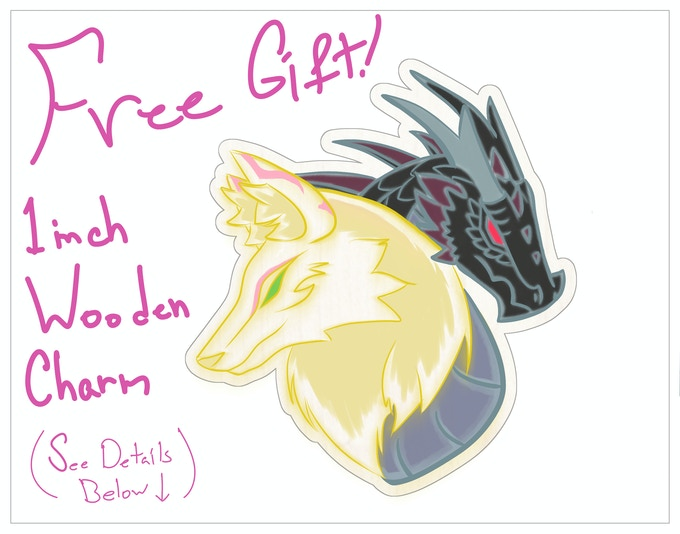 Free 1-inch wooden charm! Limited to 50 only!