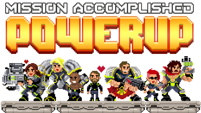 POWERUP is a 2D Dungeon Crawler for 1 to 5 players inspired by classic platform videogames.