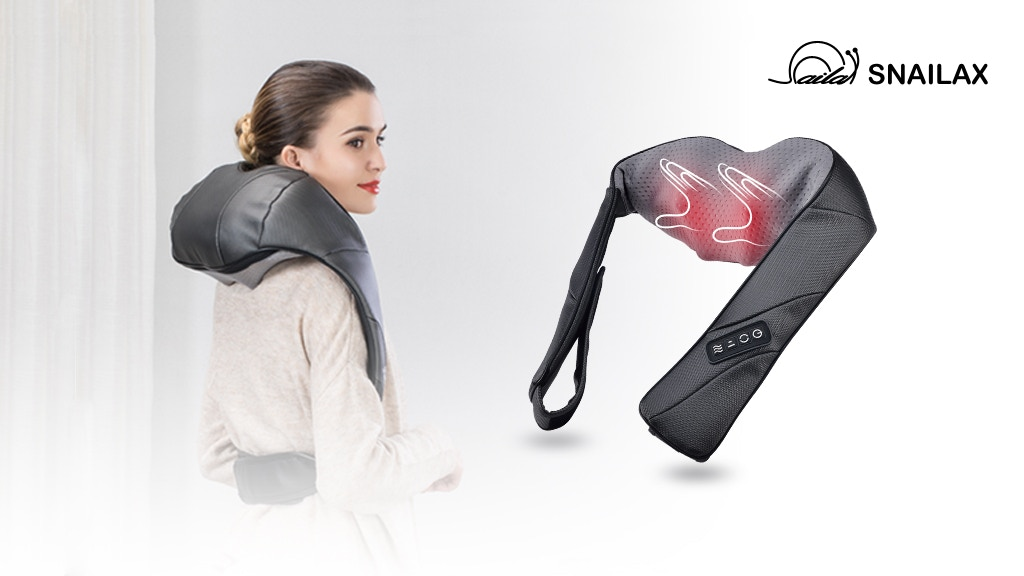 Snailax Shiatsu and Hand-grip neck and shoulder massager project video thumbnail