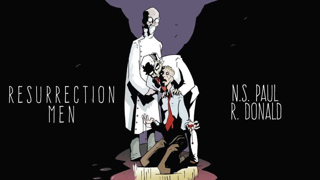 Resurrection Men #2, a 28 page full colour comic returns! project video thumbnail
