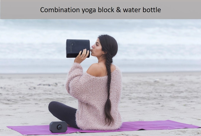 The Ujjaya Balance Bottle lets you keep your water bottle & yoga block handy with less hassle and more ease.