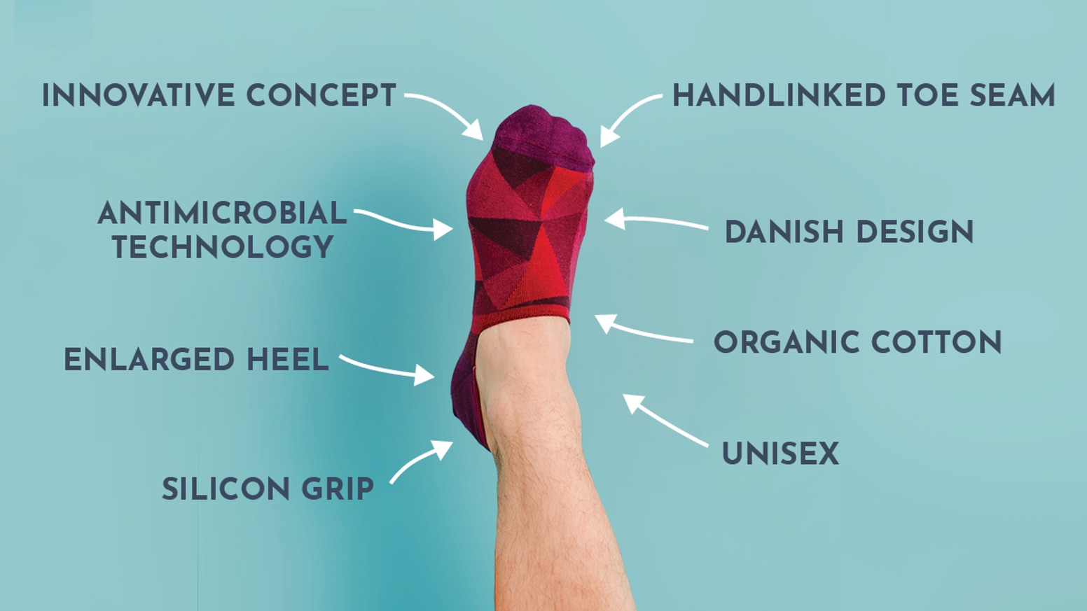 The best organic, sustainable, innovative, top quality, designer socks return as no-shows. No pairing. No wasting. No showing.