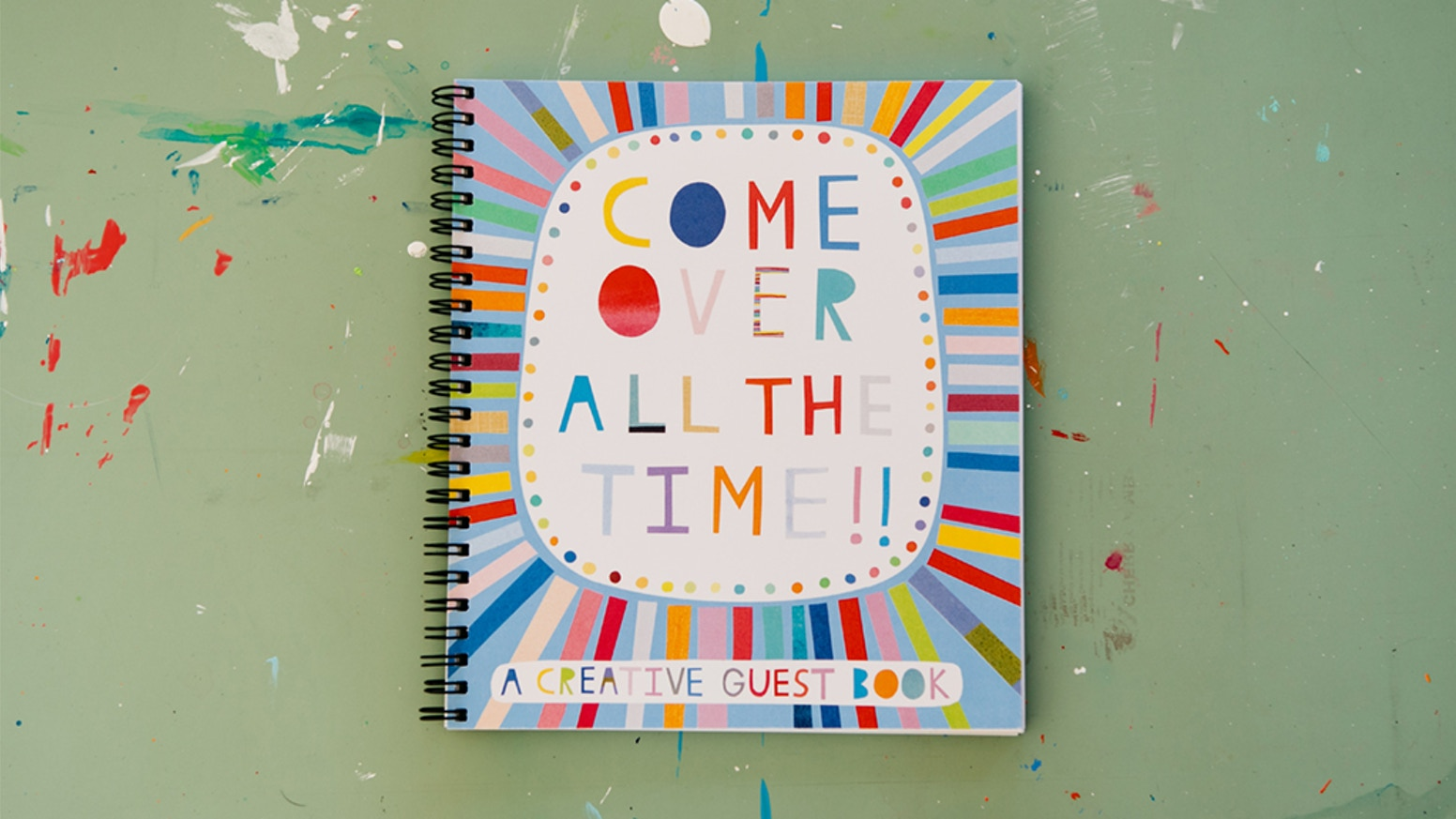 A guest book with creative prompts to capture fun times with fun people. Perfect for your coffee table, guest room, or Airbnb.