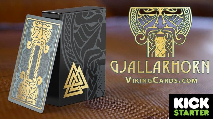 Norse playing cards containing uniquely designed, hand drawn, traditional interpretations of the Viking gods at the dawn of Ragnarök.