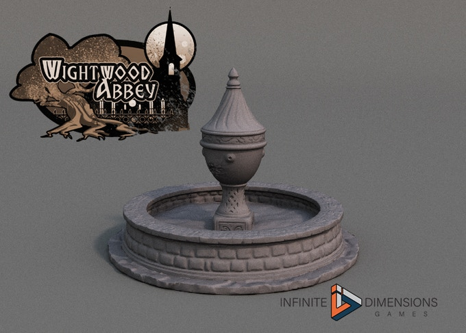 Wightwood Abbey Fountain on Thingiverse
