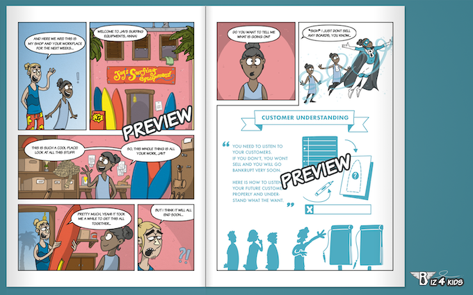 Comic style combined with business insights