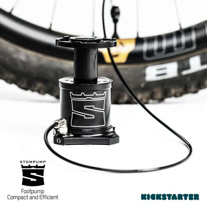 The Stompump will inflate a 29er MTB tire 3 times faster than a hand pump