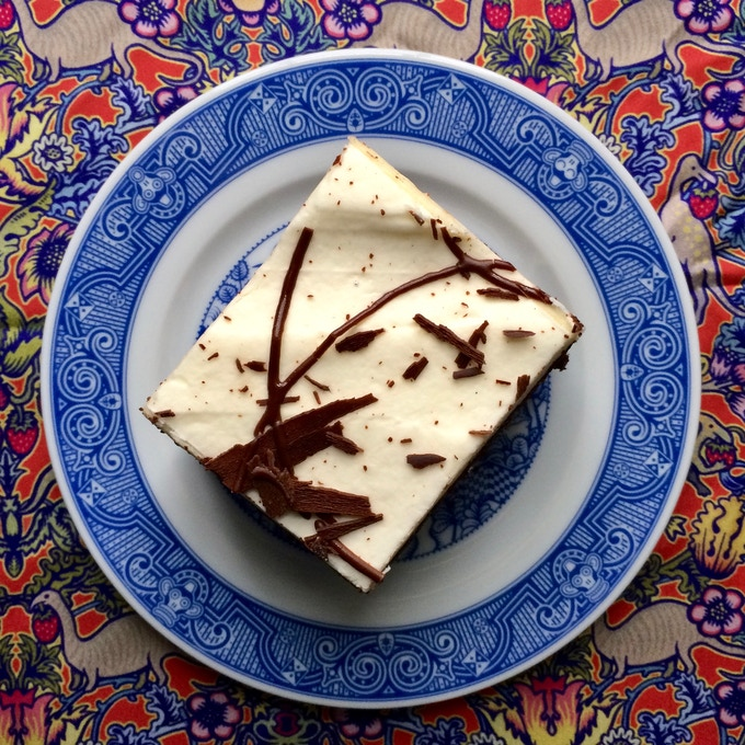 Even your tiramisu will taste better on a whimsical plate.